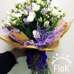 Эустома белая, эустома фиолетовая, статица, хризантема