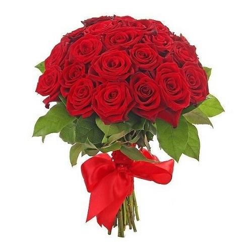 Букет из 31 красной розы, 70 см